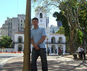 Todd Fox in the Plaza de Mayo Buenos Aires Argentina