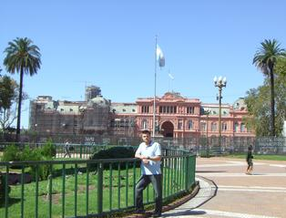 Todd Fox at the Plaza de Mayo in Buenos Aires Argentina