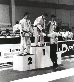 Rickson Gracie Presenting Todd Fox with 1st Place Medal