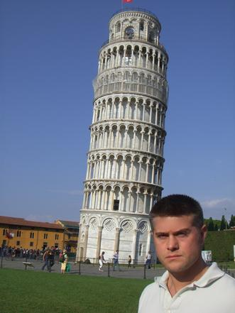 Todd Fox in Pisa Italy at the Leaning Tower.