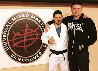 Todd Fox and Shane Rice of the Rickson Gracie Jiu Jitsu Academy.