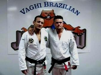 Todd Fox of Team Vaghi Jiu Jitsu with Rodrigo Vaghi Black Belts