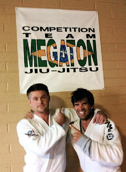 Todd Fox training with Megaton Dias World Class Black Belt Jiu Jitsu Jiu Jitsu