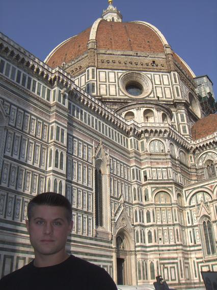 Todd Fox at the Duomo in Florence Italy.