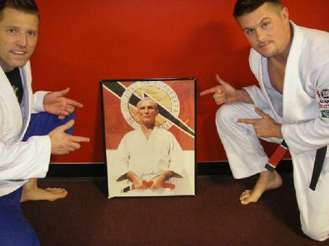 Todd Fox  Helio Gracie and Eddie Edmunds of Team Fusion Jiu Jitsu