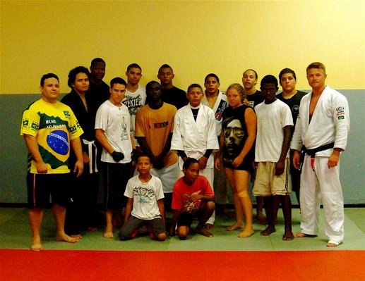 Todd Fox and the jiu jitsu team in San Nicolas,  Aruba.