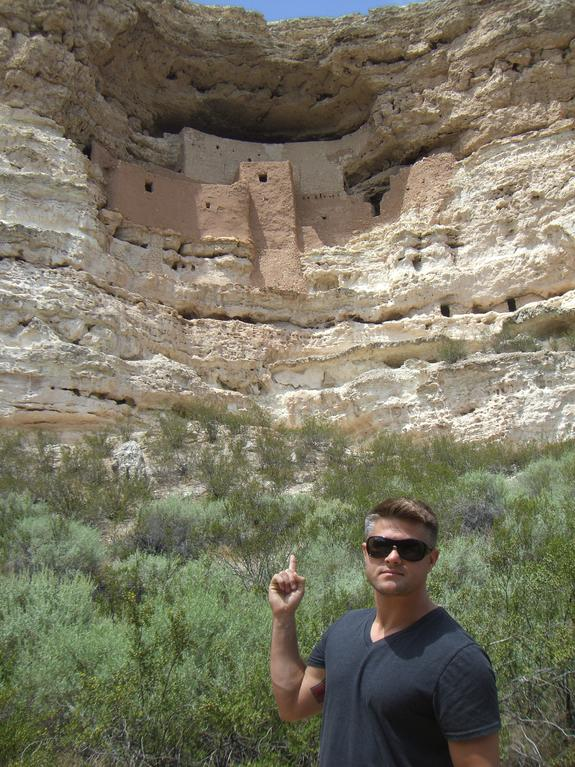 Todd Fox at a Cliff Dwelling near the Grand Canyon.