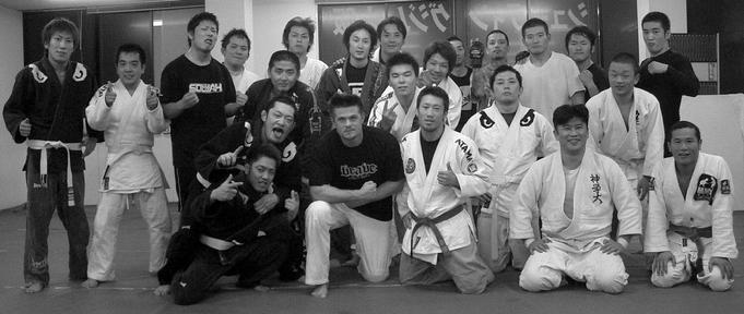 Todd Fox at the Shooto Gym in Osaka Japan