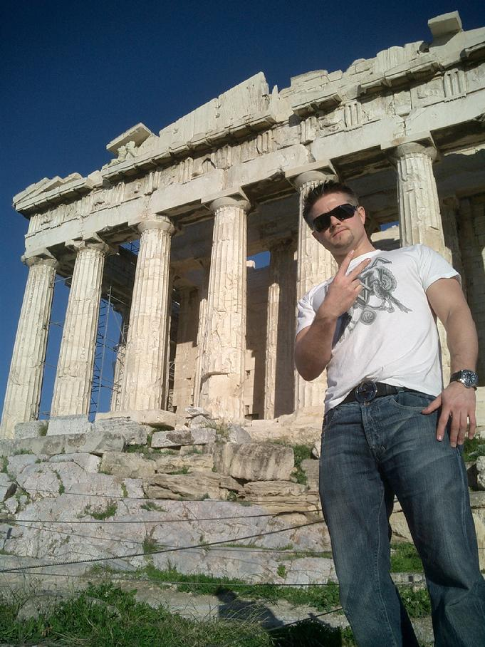 Todd Fox at the Parthenon in Greece