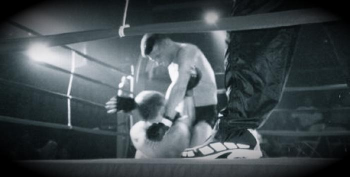 Todd Fox Punching from the Mount at the RSF MMA Fights